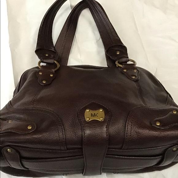 Vintage Michael Kors Leather Satchel Handbag